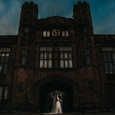 The Bolton School, bride and groom
