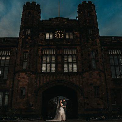The Bolton School, bride and groom